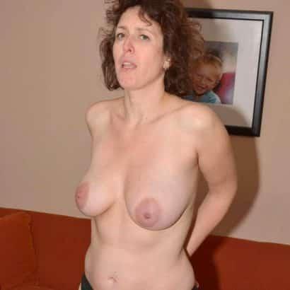 Milf showing big natural boobs