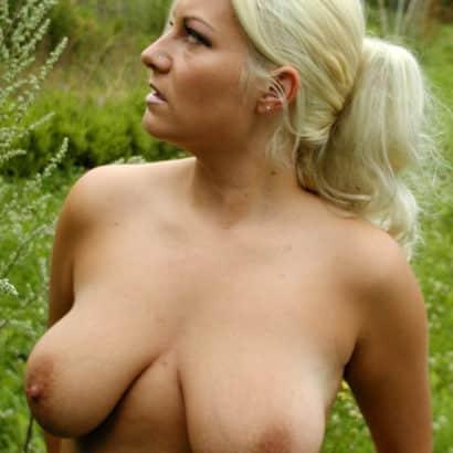 big natural boobs in nature