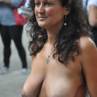 big natural boobs in public