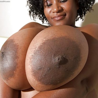 Black girl with huge nipples