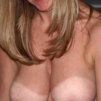 beautiful breasts with tanlines