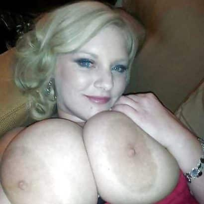 Blonde bitch big areolas