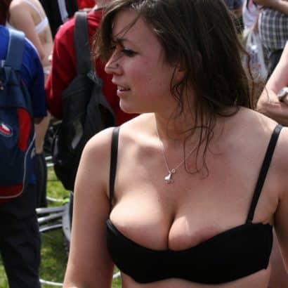 Boob Slip during a festival