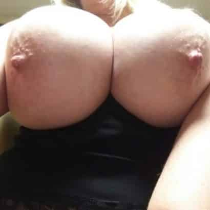showing her big areolas