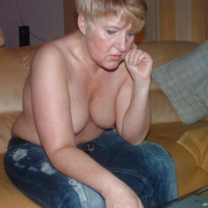 grandma with Natural Breasts