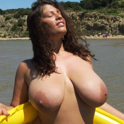big saggy tits in a Boat