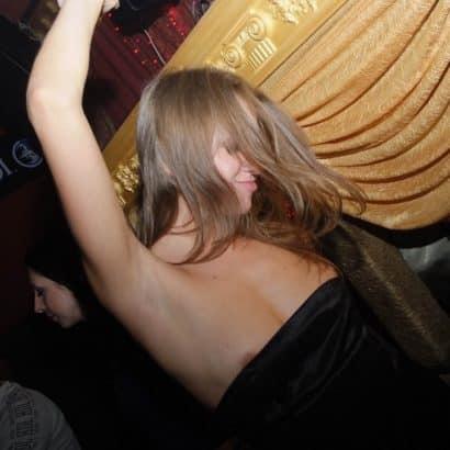 Drunk nip slip