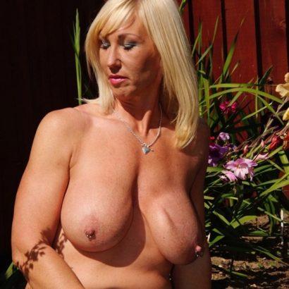 Blonde Milf Boob reveal