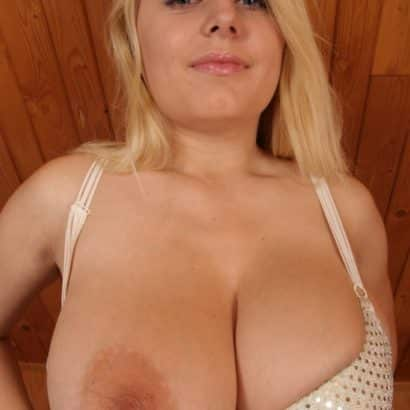 Busty Blonde Teen with huge boobs