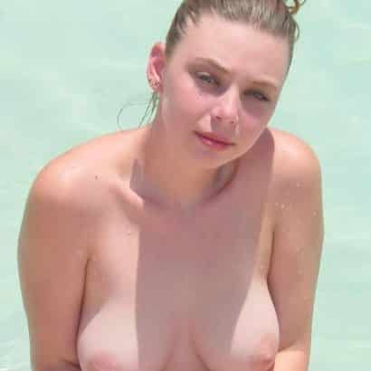 Small Boobs in the pool