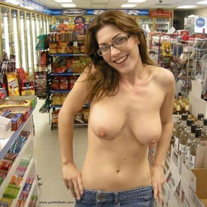 titty pics in a store