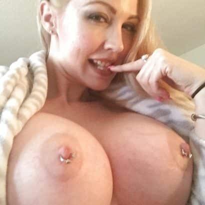 Fake pierced nipples