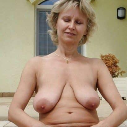 blonde saggy mature