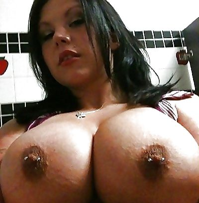 hard nipples with piercing
