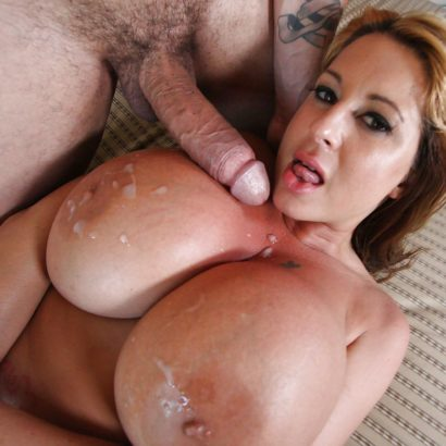 Big dick and Cum on tits