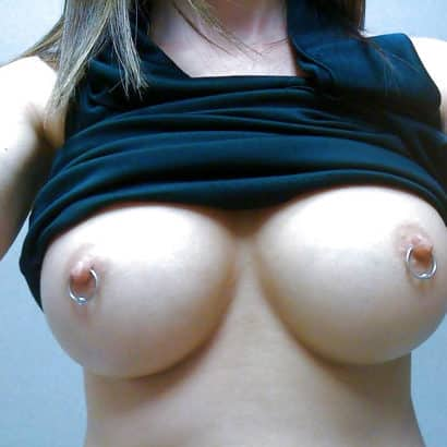 Boob Piercing and silicon tits