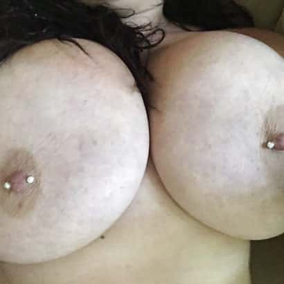 Cute Nipples with Boob Piercing