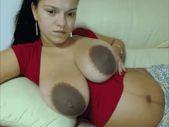 Large dark nipples