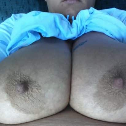 Fat chick with Milky Boobs