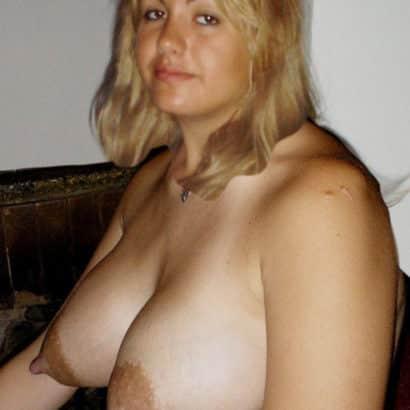blonde with huge nipples