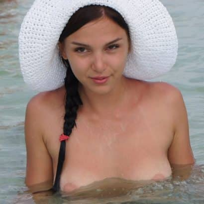 Boob Slip in the water