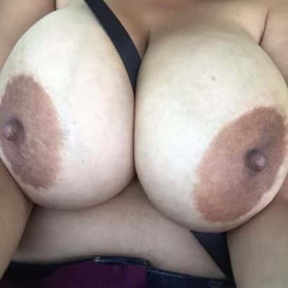 big areolas in a car