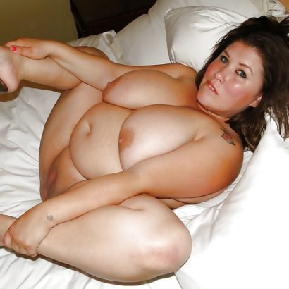 Fat Girl with Natural Breasts