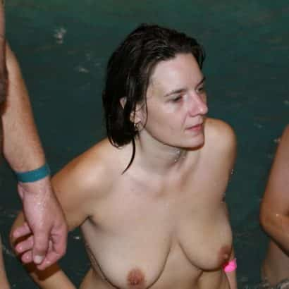 Natural Breasts swimming