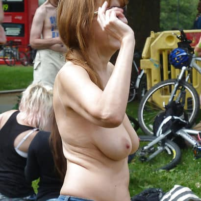 hanging tits in public