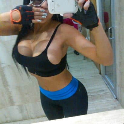 silicone boobs during sport
