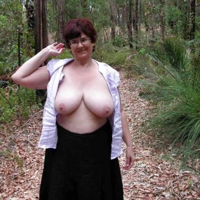 Massive Juggs in the woods