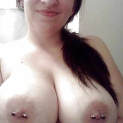 Massive Juggs wit piercings
