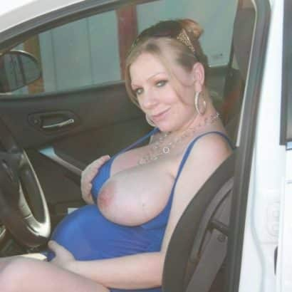 Milk Breast in a car