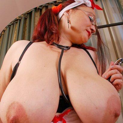 big saggy tits redhead