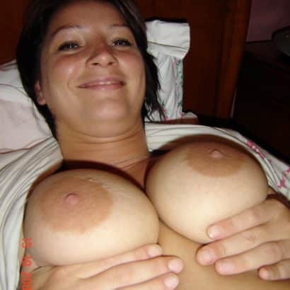 Squeezing Super tits