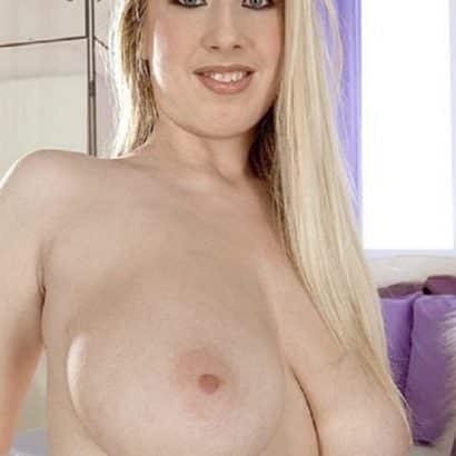 Blonde big floppy boobs