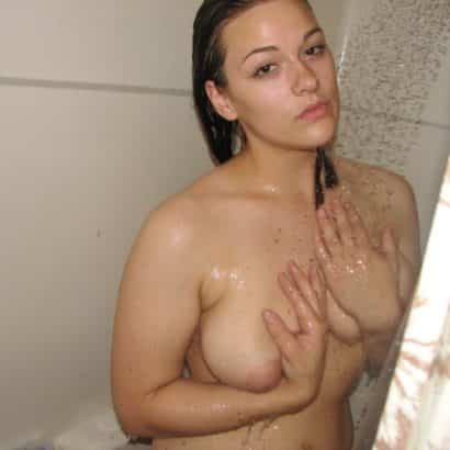 Showering titty pics