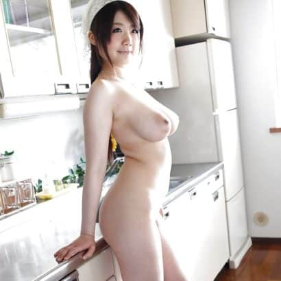 Busty Asian in her Kitchen