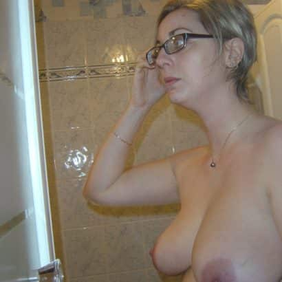 big boobies in the Shower