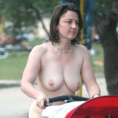 saggy mature in public