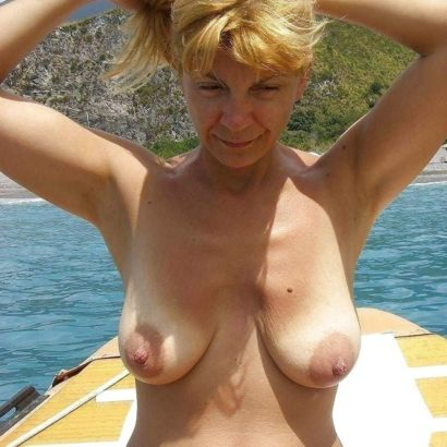 saggy mature on a boat