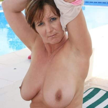 saggy mature relaxing